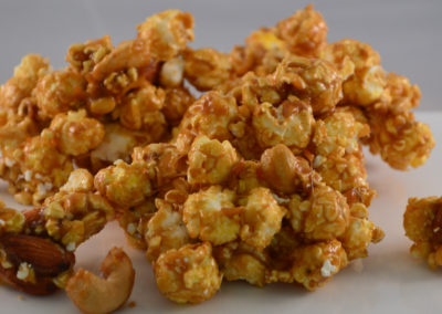 Caramel Corn with Cashews and Almonds